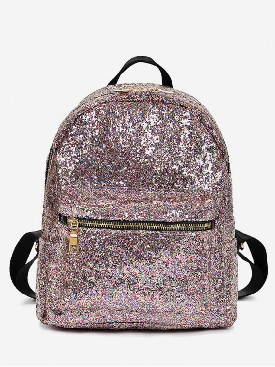 womens Sequined Chic Style Student Backpack - ROSE