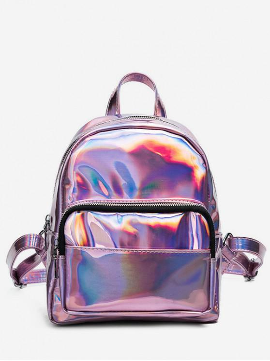 new Mini Glossy Chic Style Soft Backpack - BLUSH RED