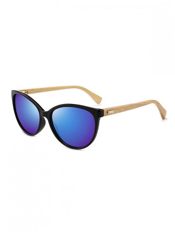 shop Bamboo Leg Kitty Eye Sunglasses - DENIM DARK BLUE
