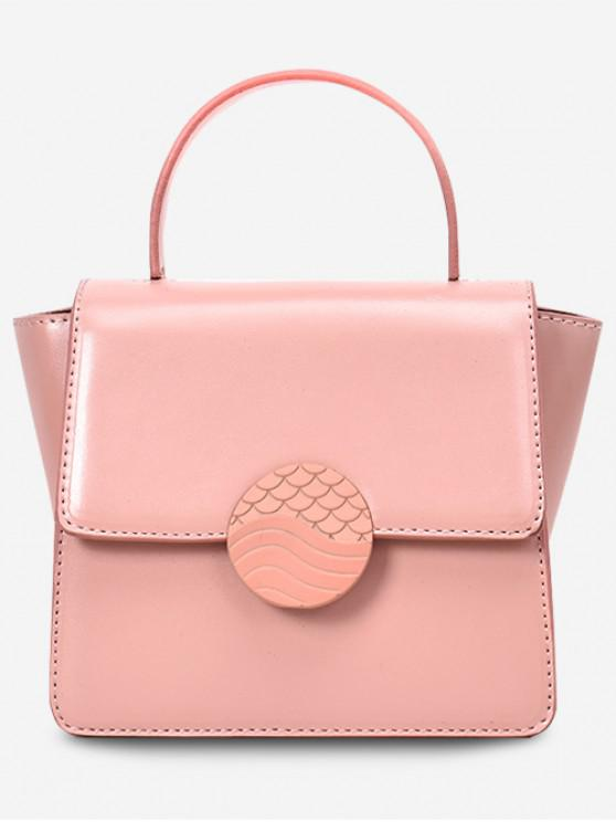 lady Solid Color Square Tote Bag - PINK