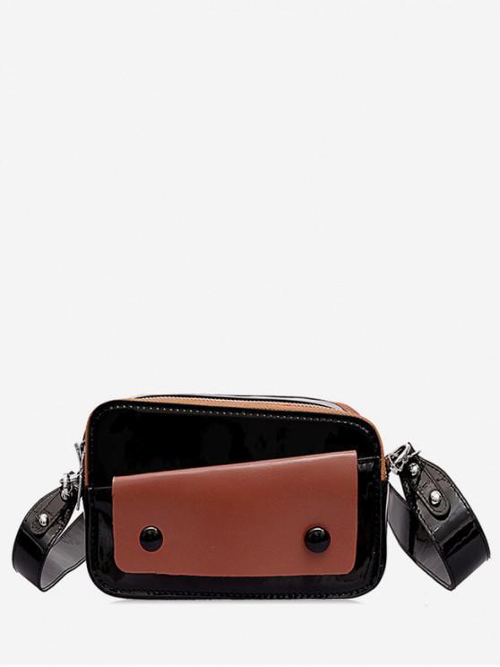 กระเป๋าสะพายข้าง Two Tone Causal - สีดำ