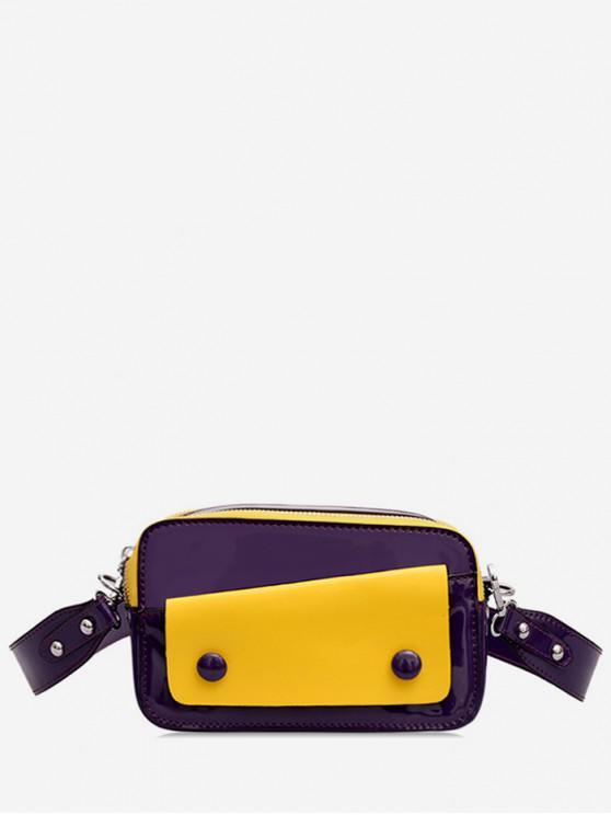 กระเป๋าสะพายข้าง Two Tone Causal - สีม่วง