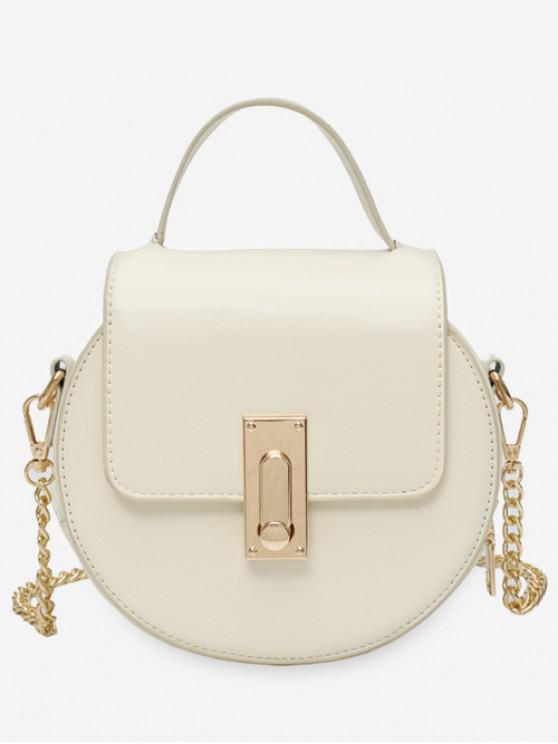 sale Round Design Chain Strap Crossbody Bag - WHITE