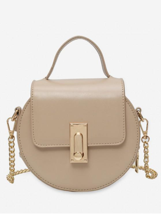 outfit Round Design Chain Strap Crossbody Bag - KHAKI