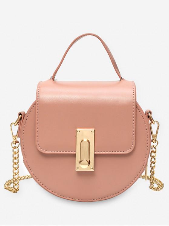 women's Round Design Chain Strap Crossbody Bag - PINK