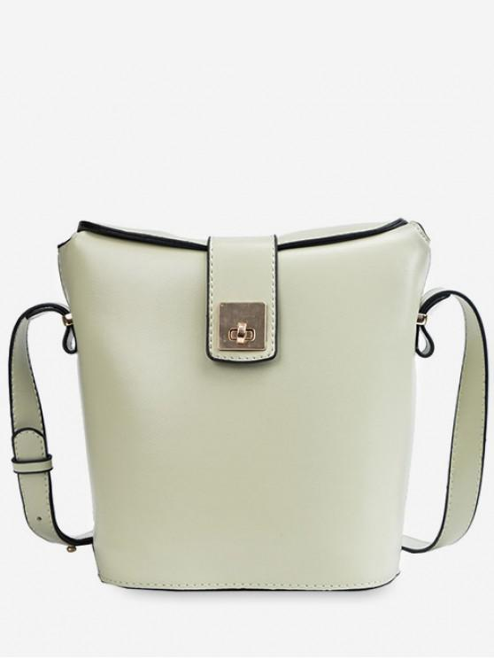 shops Casual Style Solid Color Crossbody Bag - GREEN