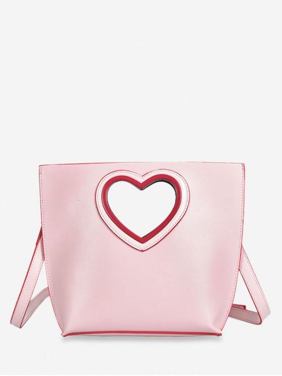 La bolsa de asas de la manija del corte del corazón - Rosa