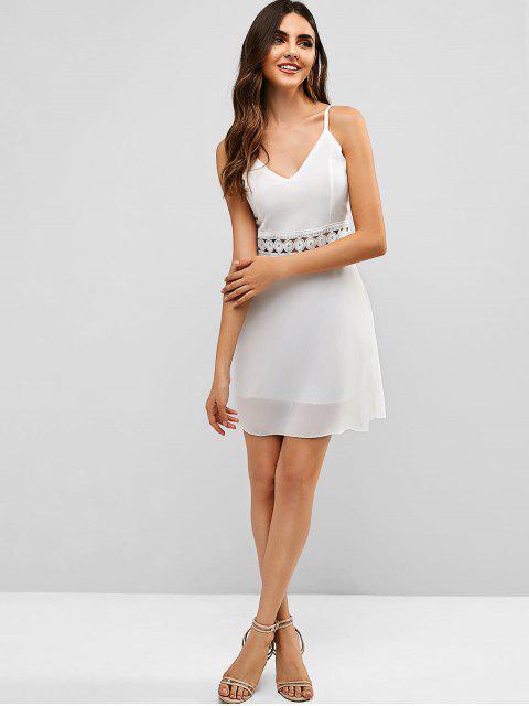 f4868e5ba [32% OFF] [HOT] 2019 Back Zipper Crochet Panel Cami Dress In WHITE | ZAFUL