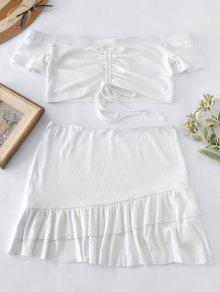 1c8c9b183 Conjunto de falda y falda ceñida con hombros descubiertos de ZAFUL