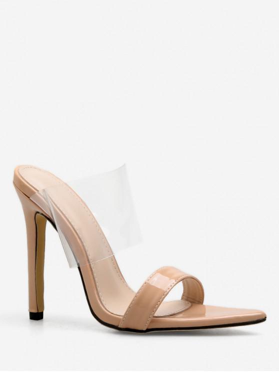 shops Clear Strap Super High Heel Slides - APRICOT EU 38