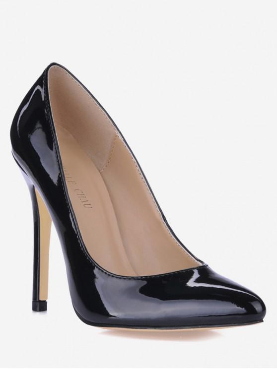 chic Pointed Toe Super High Heel Pumps - BLACK EU 41