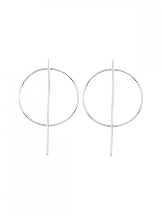 affordable Stylish Circle Geometric Stud Earrings - SILVER