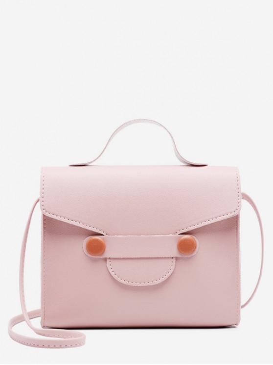 fancy PU Mini Crossbody Bag - PINK
