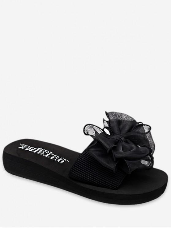 shops Bowknot Design Platform Sandals - BLACK EU 38