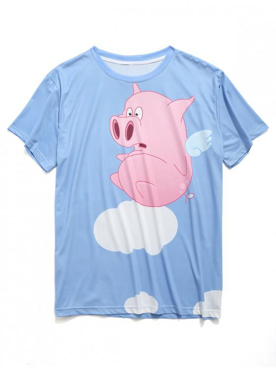 a199785c9 17% OFF] [NEW] 2019 Funny Piggy Print Short Sleeves T-shirt In ...