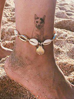Beach Cowrie Shell Rope Anklet - Gold
