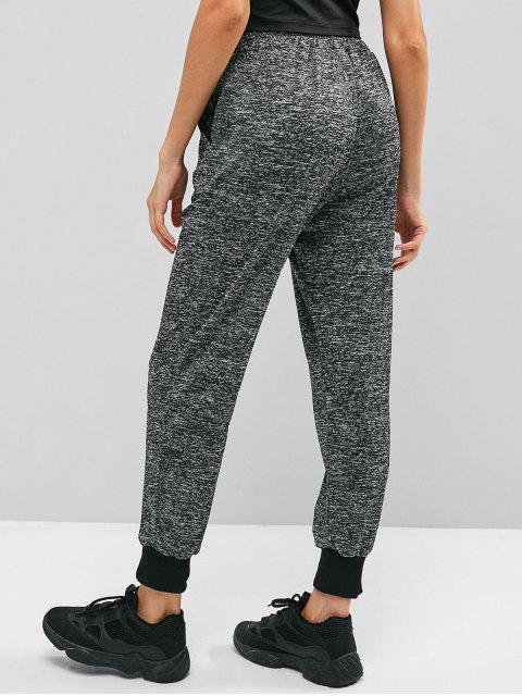 Pantalones jogger jaspeado jaspeado - Gris S Mobile