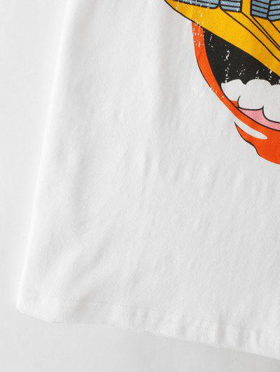 Mouth Graphic Short Sleeve Tee, White