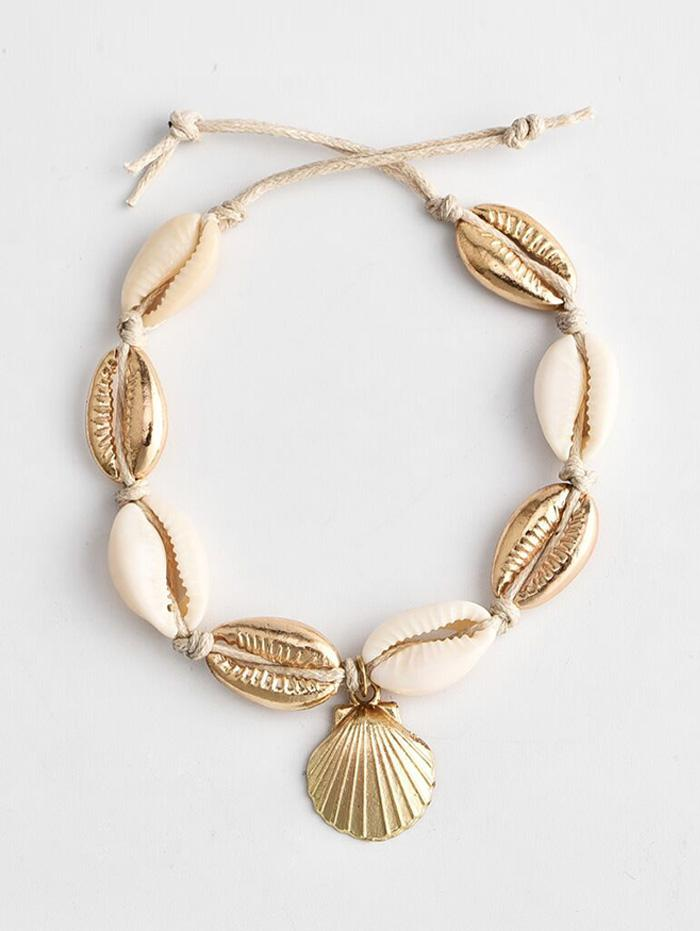 Beach Shell Rope Anklet
