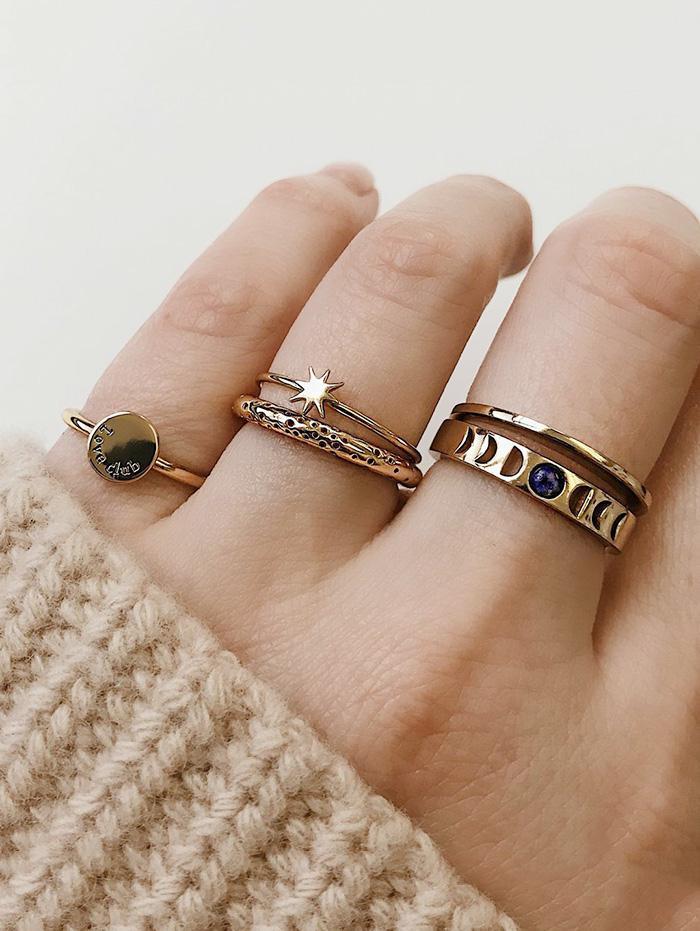 5 Piece Star Finger Ring Set