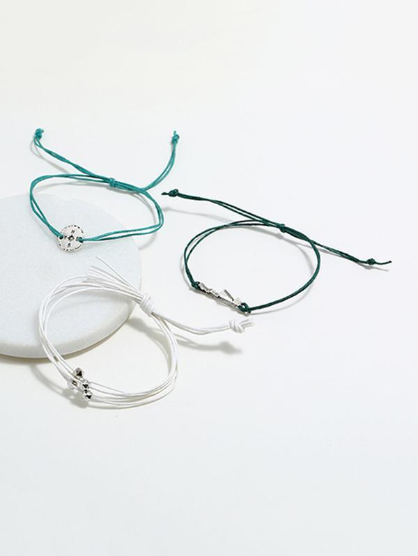 3Pcs Compass Layers Bracelet Set