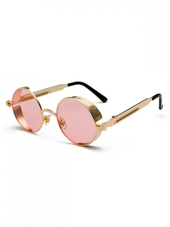 sale Steampunk Round Reflective Sunglasses - LIGHT PINK