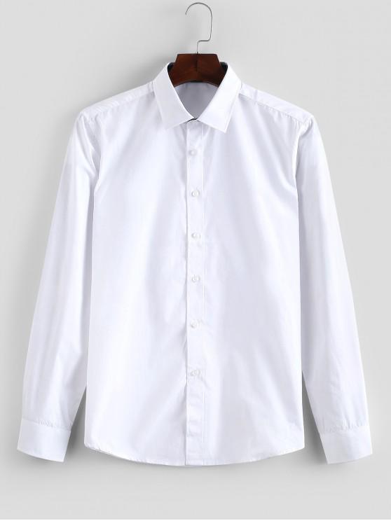 Einfarbiges Hemd mit Schmaler Passform - Weiß S