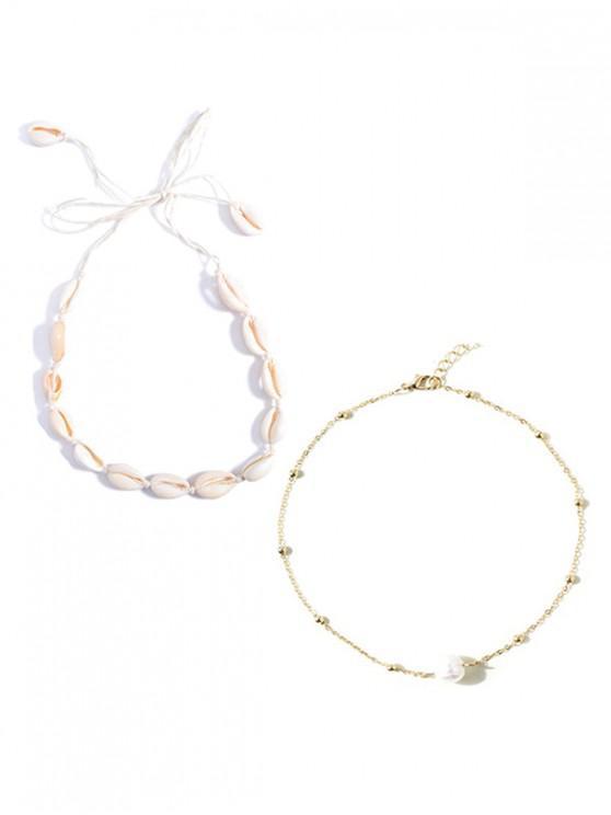 Set de Collar de Perlas de Imitación - Multicolor