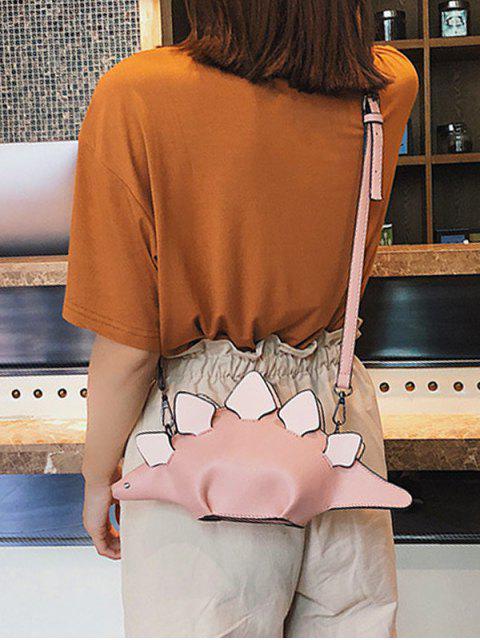 sale 3D Funny Dinosaur Crossbody Bag - ROSE  Mobile