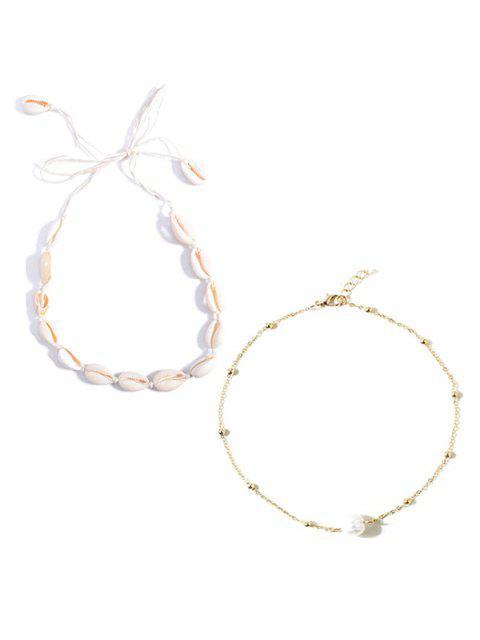 2 piezas de collar de conchas de perlas de imitación - Multicolor  Mobile