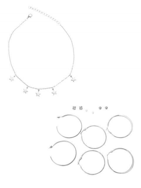 Серьги Ожерелье в сборе Звезда - Многоцветный  Mobile