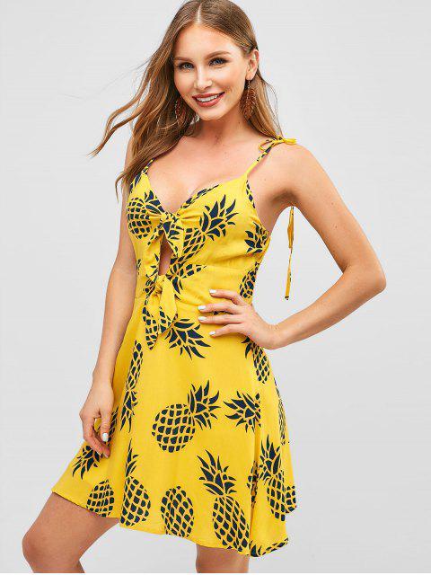 Vestido de camuflaje anudado con estampado de piña - Caucho Ducky Amarillo S Mobile