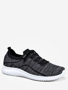 الدانتيل متابعة تصميم أوقات الفراغ تشغيل أحذية رياضية - أسود الاتحاد الأوروبي 37