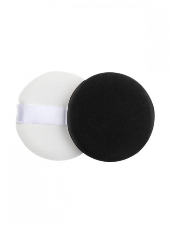 fashion Cosmetic Tool Round Powder Puff - BLACK REGULAR