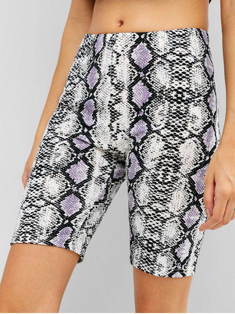 Pantalones cortos de yoga con estampado de serpiente Biker Gym - Multicolor L Mobile