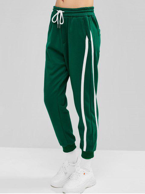 Pantalones de chándal de bolsillo con cordón - Verde de Algas Marinas M Mobile