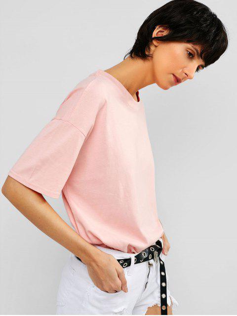 Camiseta de túnica casual con hombros caídos - Cerdo Rosa M Mobile