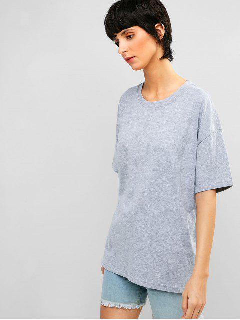 Camiseta de túnica casual con hombros caídos - Nube Gris XL Mobile