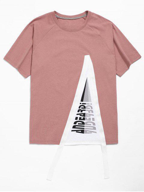 Túnica de algodón estampada con mangas raglán - Lila Roja M Mobile