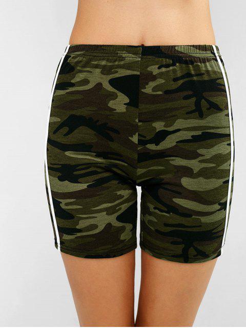 ZAFUL Camo Striped Side Gym Shorts - ACU Camuflaje L Mobile
