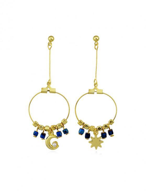 37041696bb0e7 Star Moon Circle Fringe Earrings