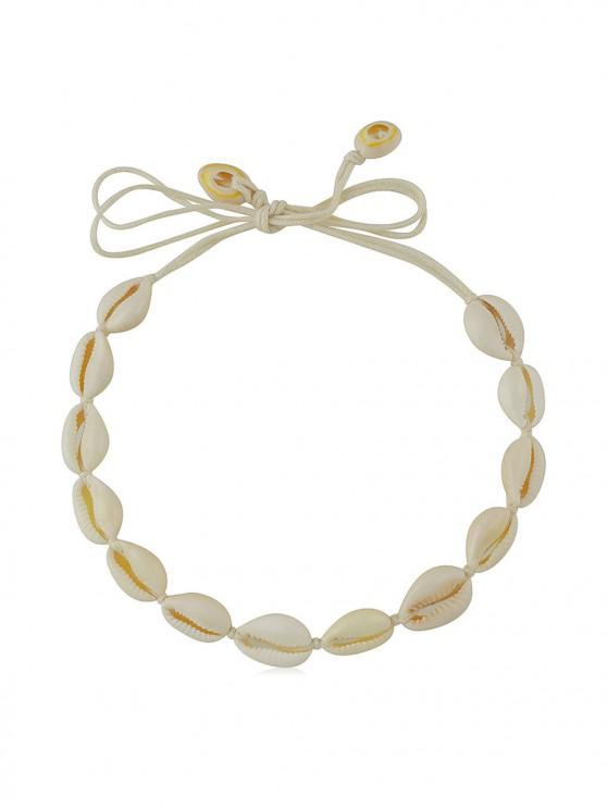 best Beach Shell Rope Necklace - BEIGE
