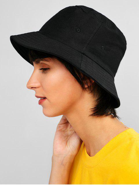 Sombrero de cubo casual sólido - Negro  Mobile