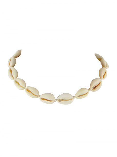 best Beach Shell Rope Necklace - BEIGE  Mobile