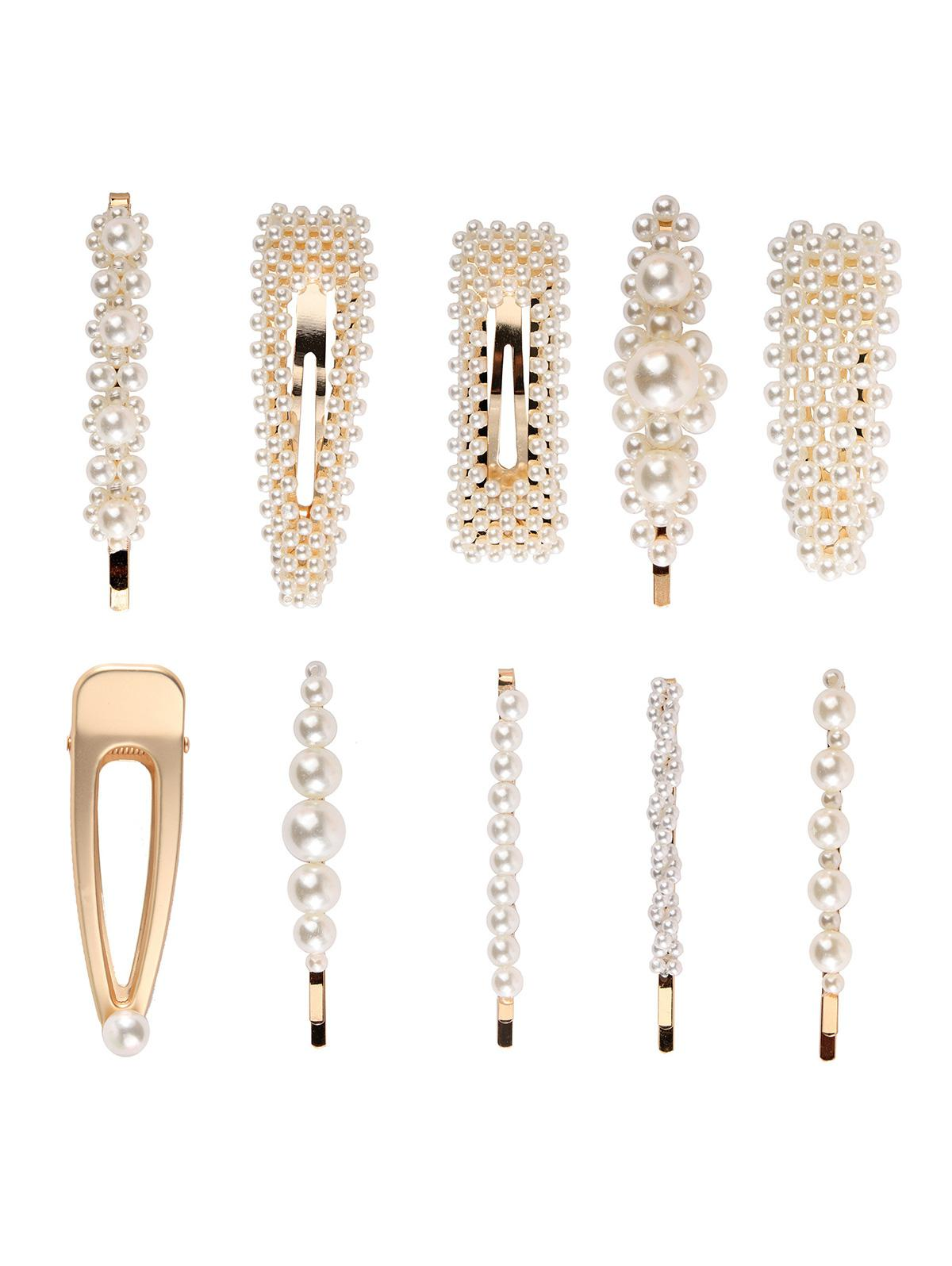 10Pcs Artificial Pearl Hair Pin Set thumbnail