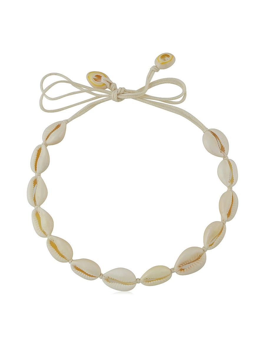 Cowrie Shell Rope Choker Necklace
