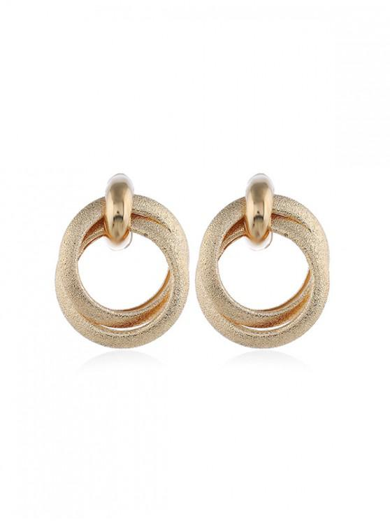 hot Double Circle Stud Earrings - GOLD
