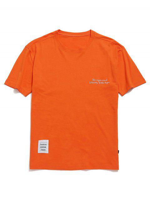 Camiseta de neón de túnica estampada con hombros caídos - Mango Naranja S Mobile