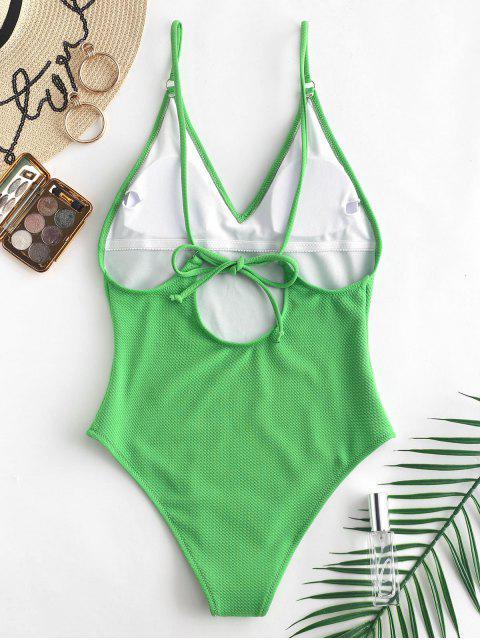 ZAFUL Bañador de Tirante Fino con Textura de Camuflaje - Cebolla Verde XL Mobile