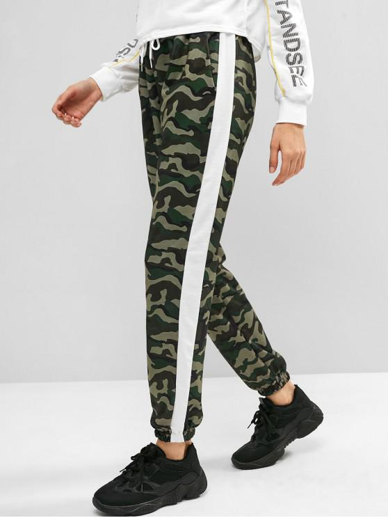 shop Camo Casual Jogger Pants - CAMOUFLAGE GREEN L